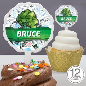 Hulk Personalized Cupcake Picks (12 Count)