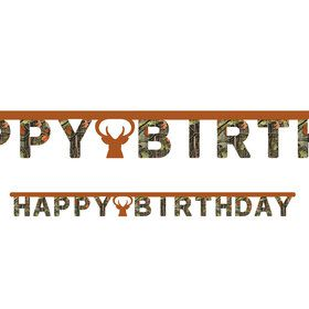 Hunting Camo Jointed Happy Birthday Banner
