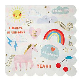 I Believe In Unicorns Lunch Napkins (20)