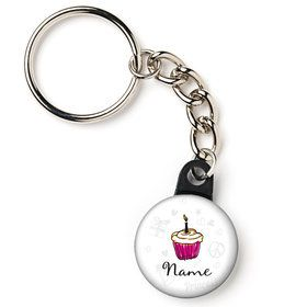 "I love Cake Personalized 1"" Mini Key Chain (Each)"