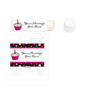 I love Cake Personalized Lip Balm (12 Pack)