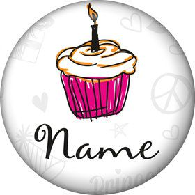 I love Cake Personalized Mini Button (Each)