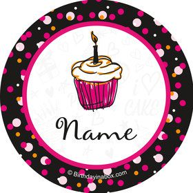 I love Cake Personalized Mini Stickers (Sheet of 24)