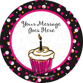 I love Cake Personalized Stickers (Sheet of 12)
