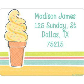 Ice Cream Party Personalized Address Labels (Sheet of 15)