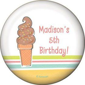 Ice Cream Party Personalized Magnet (each)