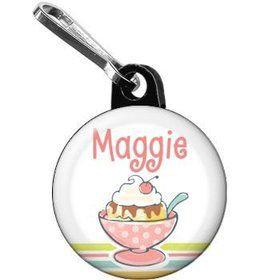 Ice Cream Party Personalized Mini Zipper Pull (each)