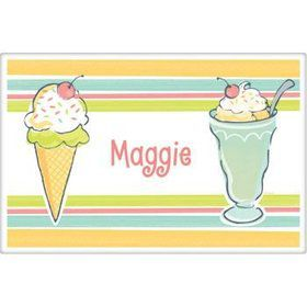 Ice Cream Party Personalized Placemat (each)