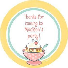 Ice Cream Party Personalized Stickers (sheet of 12)