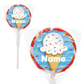 "Ice Cream Personalized 2"" Lollipops (20 Pack)"