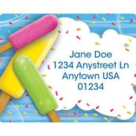 Ice Cream Personalized Address Labels (Sheet of 15)