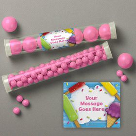Ice Cream Personalized Candy Tubes (12 Count)