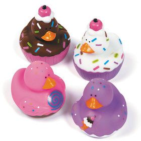 Ice Cream Treats Rubber Duckies (12 Pieces)