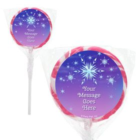 "Ice Princess Personalized 2"" Lollipops (20 Pack)"