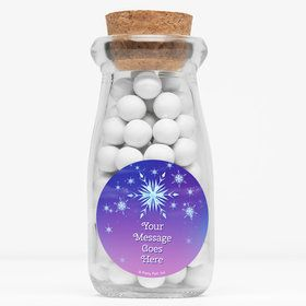 "Ice Princess Personalized 4"" Glass Milk Jars (Set of 12)"