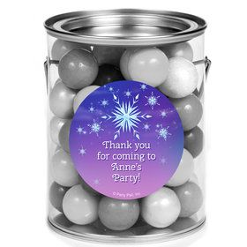 Ice Princess Personalized Mini Paint Cans (12 Count)