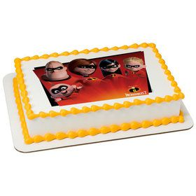 Incredibles 2 Quarter Sheet Edible Cake Topper (Each)