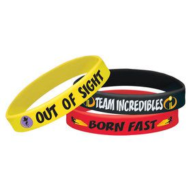 Incredibles 2 Rubber Bracelet Favors (6)