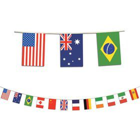 International Party Flag Banner (Each)