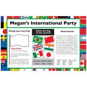 International Personalized Activity Mat (8 Pack)