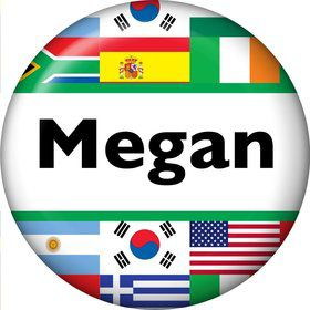International Personalized Mini Magnet (Each)
