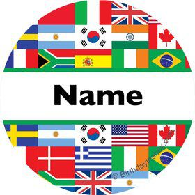 International Personalized Mini Stickers (Sheet of 24)