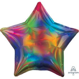"Iridescent Rainbow Star 19"" Balloon (1)"