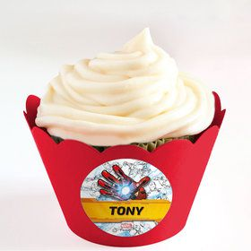 Iron Man Personalized Cupcake Wrappers (Set of 24)