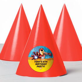 Iron Man Personalized Party Hats (8 Count)
