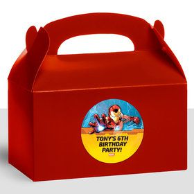 Iron Man Personalized Treat Favor Boxes (12 Count)