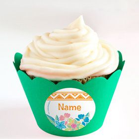 Island Princess Personalized Cupcake Wrappers (Set of 24)