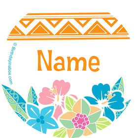 Island Princess Personalized Mini Stickers (Sheet of 24)