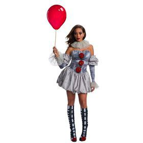 IT Female Pennywise Deluxe Adult Costume