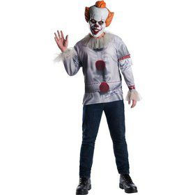 It Movie Pennywise Mens Costume Top