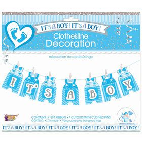 It's A Boy Clothes Line Decoration