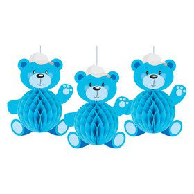 It's A Boy Honeycomb Bears (3)