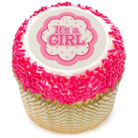"It's a Girl 2"" Edible Cupcake Topper (12 Images)"