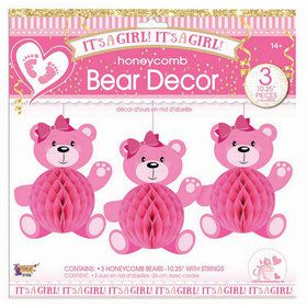 It's A Girl Honeycomb Bears (3)