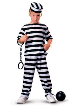 Jailbird Child Costume