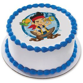 """Jake & the Never Land Pirates 7.5"""" Round Edible Cake Topper (Each)"""