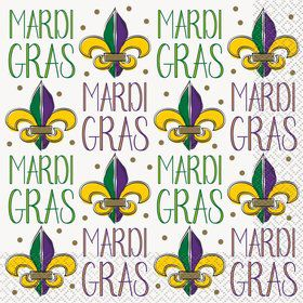 Jazzy Mardi Gras Lunch Napkins (16)