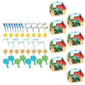 John Deere Johnny Tractor Filled Favor Boxes(For 8 Guests)