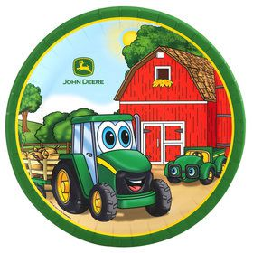 Johnny Tractor Dinner Plates (8 Count)