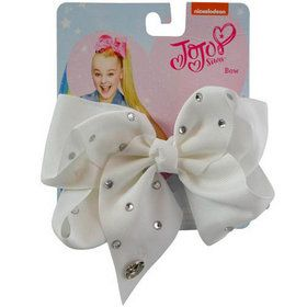 JoJo Siwa All Over Rhinestone White Bow (1)