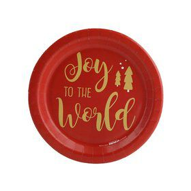 Joy to the World Dessert Plate (8)
