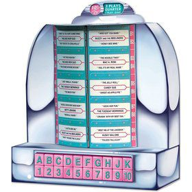 "Jukebox Tabletop 13 1/4"" Centerpiece Decoration (Each)"