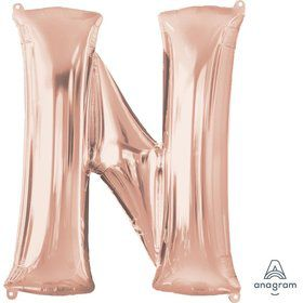 Jumbo Rose Gold Letter 32 Foil Balloon - N