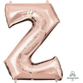 Jumbo Rose Gold Letter 33 Foil Balloon - Z