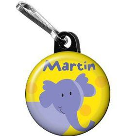 Jungle Animals - Elephant Personalized Mini Zipper Pull (each)