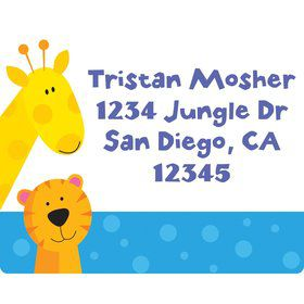 Jungle Animals Personalized Address Labels (Sheet of 15)